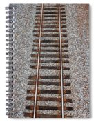 Railroad Track With Gravel Bed Spiral Notebook