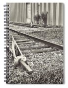 Railroad Tracks Bw Spiral Notebook