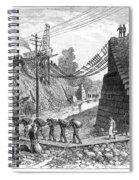 Railroad Washout, 1885 Spiral Notebook