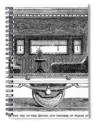 Railway Carriage, 1864 Spiral Notebook
