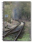 Railway Line Spiral Notebook