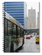 Rain And Bus Spiral Notebook