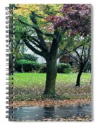 Rain And Leaf Ave Spiral Notebook