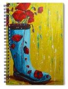 Rain Boot Series Unusual Flower Pots Spiral Notebook