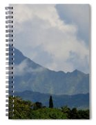 Rain Clouds Over The Makalehas Spiral Notebook