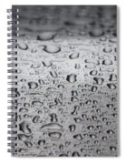 Rain Drops On Stainless Steel Spiral Notebook