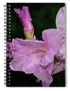 Rain Flower 1 Lavender Spiral Notebook