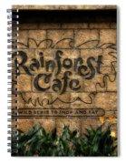 Rain Forest Cafe Signage Downtown Disneyland 01 Spiral Notebook
