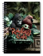 Rain Forest Cafe Signage Downtown Disneyland 03 Spiral Notebook