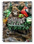 Rain Forest Cafe Signage Walt Disney World Spiral Notebook