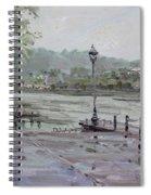 Rain In Lewiston Waterfront Spiral Notebook