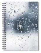 Rain In Winter Spiral Notebook