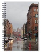 Rain On Water Street 1 Spiral Notebook