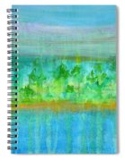 Rain  Original Contemporary Acrylic Painting On Canvas Spiral Notebook