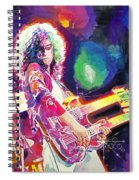 Rain Song Jimmy Page Spiral Notebook