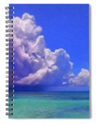 Rain Squall On The Horizon Spiral Notebook