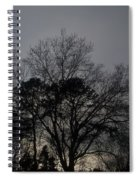 Rain Storm Clouds And Trees Spiral Notebook