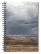 Approaching Storm The Painted Desert Arizona Spiral Notebook