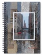 Rain Water Street W City Hall Spiral Notebook