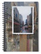 Rain Wisconcin Ave Tall View Spiral Notebook