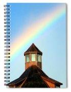 Rainbow Against Blue Sky Spiral Notebook
