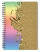 Rainbow And Gold Spiral Notebook