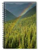 Rainbow And Sunlit Trees Spiral Notebook