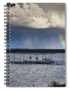 Rainbow At Burt Lake Spiral Notebook