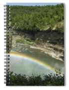 Middle Falls With Rainbow Spiral Notebook