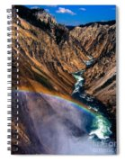Rainbow At The Grand Canyon Yellowstone National Park Spiral Notebook