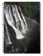 Rainbow At Victoria Falls Spiral Notebook