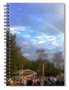 Rainbow At Wind Gap Park Spiral Notebook