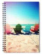 Rainbow Beach Photography Light Leaks1 Spiral Notebook