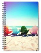 Rainbow Beach Photography Light Leaks2 Spiral Notebook
