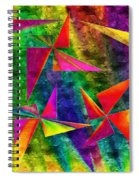 Rainbow Bliss - Pin Wheels - Painterly - Abstract - H Spiral Notebook