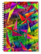 Rainbow Bliss - Pin Wheels - Painterly - Abstract - V Spiral Notebook