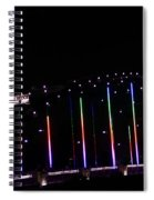 Rainbow Bridge And Super Moon Spiral Notebook