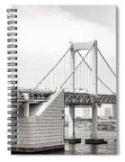 Rainbow Bridge In Tokyo Spiral Notebook