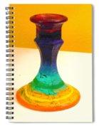 Rainbow Candlestick Spiral Notebook