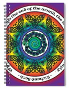 Rainbow Celtic Butterfly Mandala Spiral Notebook
