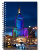 Palace Of Science And Culture In Rainbow Colors  Spiral Notebook