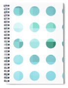 Rainbow Dots Aqua  Spiral Notebook