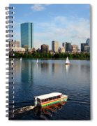 Rainbow Duck Boat On The Charles Spiral Notebook