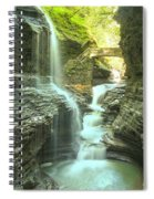 Rainbow Falls Bridge Spiral Notebook