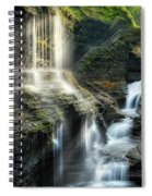 Rainbow Falls Square Spiral Notebook
