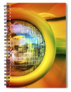 Rainbow Headlight Spiral Notebook