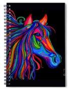 Rainbow Horse Head Spiral Notebook
