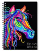 Rainbow Horse Too Spiral Notebook