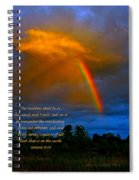 Rainbow In The Cloud Spiral Notebook