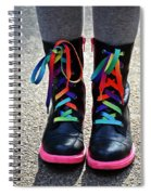 Rainbow Laces Spiral Notebook